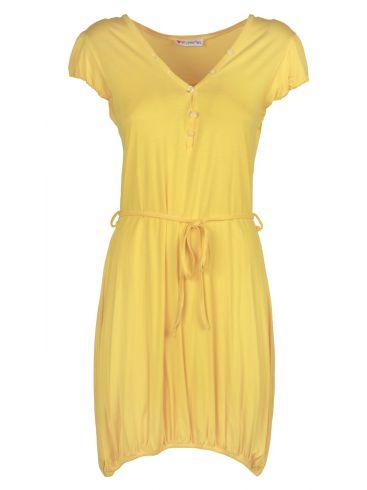HYPER Κοντομάνικο εμπριμέ φόρεμα μουσελίνας