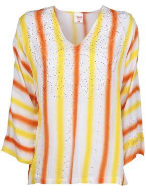 MIR Πολύχρωμη δροσερή μπλούζα καφτάνι