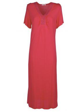 PERSONA Κοντομάνικο εμπριμέ φόρεμα μουσελίνας