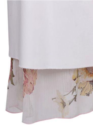 SYRAN Λευκή μακριά φούστας