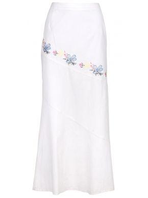 TANIA MODA Κοντομάνικο εμπριμέ φόρεμα μουσελίνας