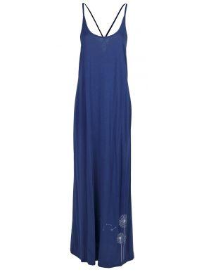 Κοντομάνικο εμπριμέ φόρεμα μουσελίνας