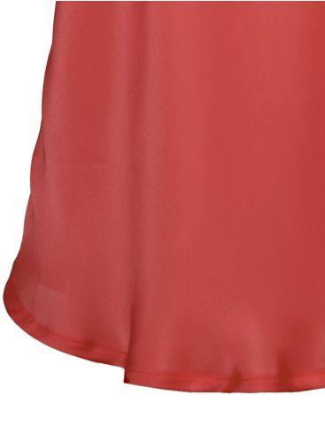 ZINO JORDAN Αμάνικο πορτοκαλί μπλουζάκι, τύπου σατέν, φιόγκος πάνω.