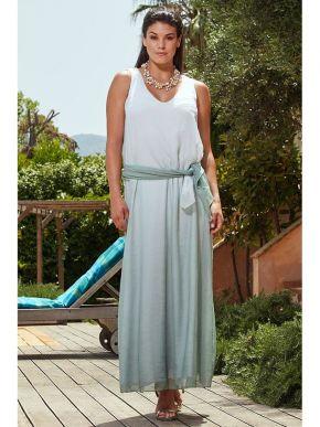 RAXSTA Μάξι αμάνικο φόρεμα αμάνικο παστέλ άλφα φόρεμα DF20100.