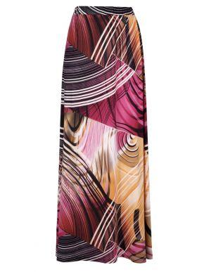 More about GR FASHION Πολύχρωμη μακριά ελαστική φούστα μαγιόπανο