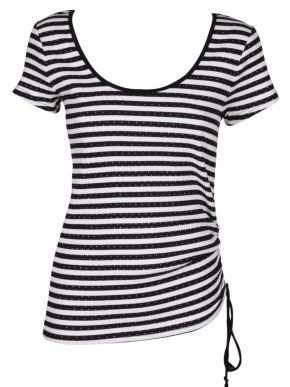 More about MiSMASH Ισπανικό γυναικείο ασπρόμαυρο ριγέ ελαστικό μπλουζάκι