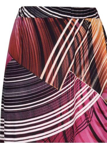 GR FASHION Πολύχρωμη μακριά ελαστική φούστα μαγιόπανο