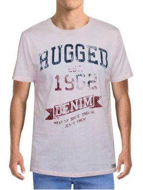 FORESTAL MAN Ανδρικό ρόζ κοντομάνικο μπλουζάκι t-shirt