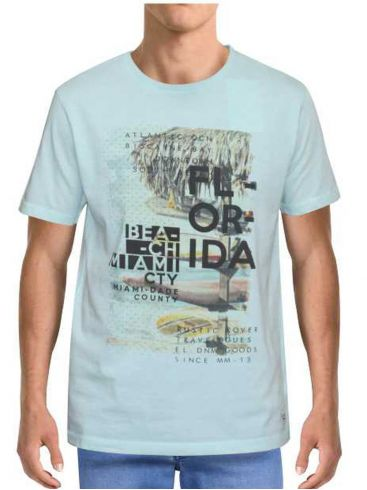 FORESTAL MAN Ανδρικό aqua κοντομάνικο μπλουζάκι t-shirt