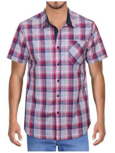 FORESTAL MAN Ανδρικό μπλέ καρό πουκάμισο