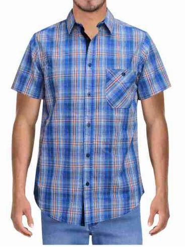 FORESTAL MAN Ανδρικό μπλέ καρό πουκάμFORESTAL MAN Ανδρικό μπλέ καρό πουκάμισοισο W01126 4VG Windsurfbl Blue Sail.