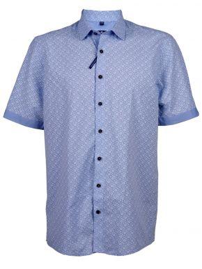 REDMOND Γαλάζιο λινό πουκάμισο, Easy Iron, (έως 7XL)