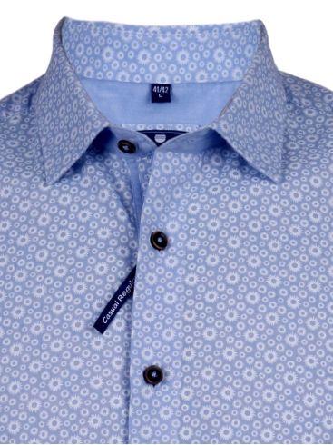 redmond γαλάζιο λινό πουκάμισο, easy iron