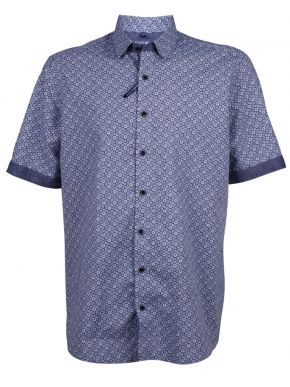 REDMOND Τζιν λινό πουκάμισο, Easy Iron, (έως 7XL)