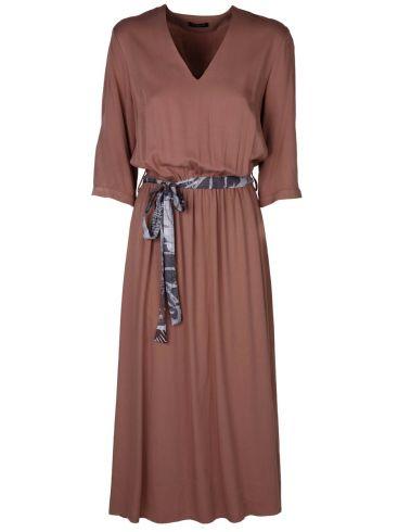 esquivo μπεζ μακρύ φόρεμα, τρουακάρ