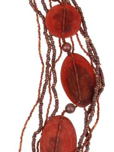 ELYSEE Γαλλικό γυναικείο χειροποίητο κολιέ, φυσικό ξύλο