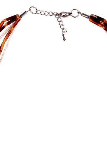 ELYSEE Γαλλικό γυναικείο χειροποίητο κολιέ, με φυσικό ξύλο