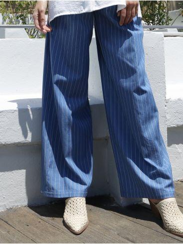 ESQUIVO Γυναικεία ριγέ τζην παντελόνα