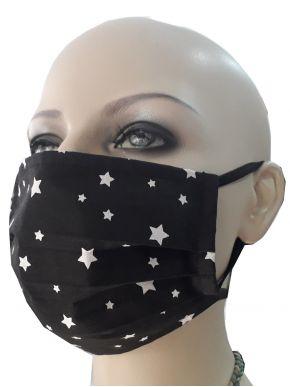 Σετ 6 Unisex Υφασμάτινες  Προστασίας, Πλενόμενες, Μάύρη