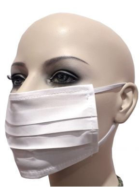 More about Unisex Υφασμάτινες Μάσκες Προστασίας, Πλενόμενες, Λευκή