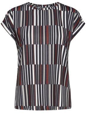 FRANSA Γυναικεία πολύχρωμη κοντομάνικη ελαστική μπλούζα
