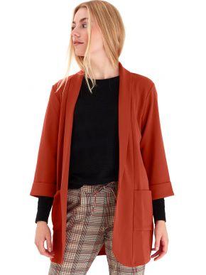 FRANSA Γυναικεία κεραμιδή κρέπ ζακέτα σακάκι