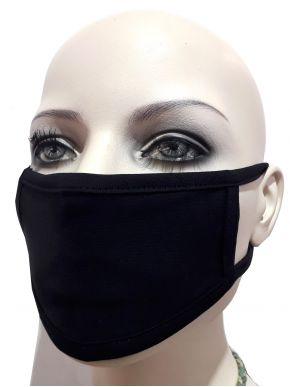 100 Παιδικές Υφασμάτινες Μάσκες Προστασίας, Πλενόμενες, Μαύρη