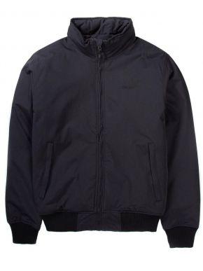BASEHIT Ανδρικό μαύρο μπουφάν, αδιάβροχία-αναπνοή 5Κ , 192.BM10.20 DOBBY BLACK