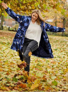 CISO Γυναικείο πολύχρωμο ελαφρύ ζεστό μπουφάν