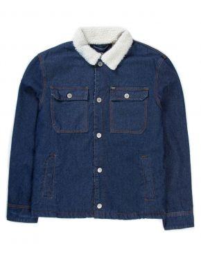 More about BASEHIT Ανδρικό μπλέ βαμβακερό γούνινο τζιν μπουφάν 192.BM18.15 DN DARK BLUE