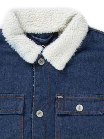 BASEHIT Ανδρικό μπλέ βαμβακερό γούνινο τζιν μπουφάν 192.BM18.15 DN DARK BLUE