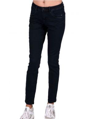 RED BUTTON Ολλανδικό blueblack γυναικείο hyperflex ψιλοκάβαλο skinny παντελόνι τζιν