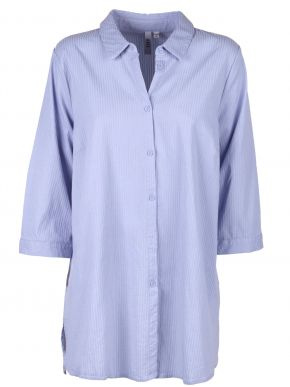 CISO Γυναικείο γαλάζιο ελαστικό μακρυμάνικο πουκάμισο