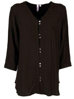 CISO Γυναικείο μαύρο πουκάμισο καφτάνι