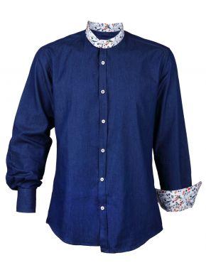 STEFAN Ανδρικό μακρυμάνικο μεσάτο τζιν πουκάμισο