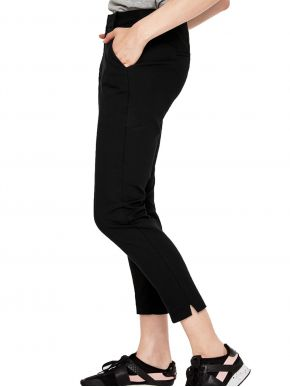 S.OLIVER Γυναικείο μαύρο ελαστικό τσίνος παντελόνι κουστουμιού