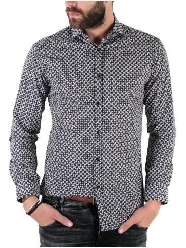 STEFAN Ανδρικό μακρυμάνικο μεσάτο πουκάμισο