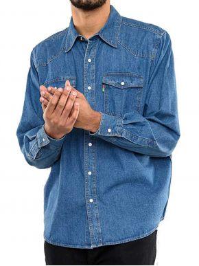 DUKE Ανδρικό μακρυμάνικο τζιν πουκάμισο (2XL-6XL)
