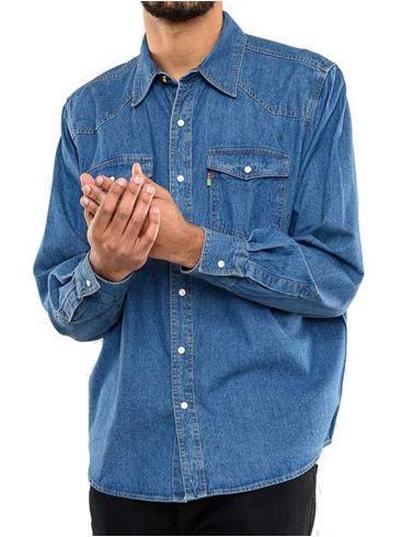DUKE Ανδρικό μακρυμάνικο τζιν πουκάμισο