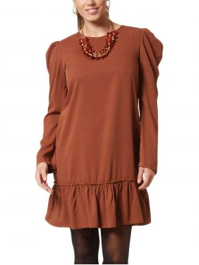 ANNA RAXEVSKY Μακρυμάνικο φόρεμα, μανίκια φουσκωτά, βολάν