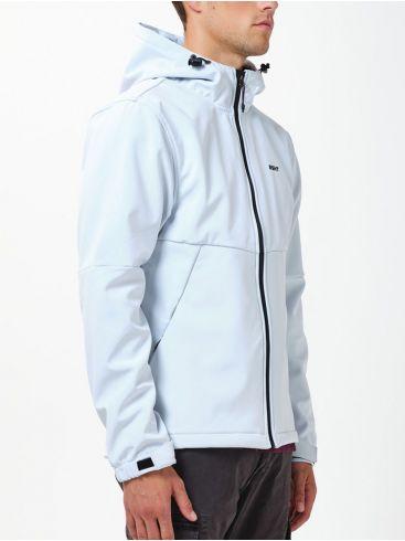 BASEHIT Ανδρικό λευκό μπουφάν ύφασμα Βluesign® 202.BM11.10 Ice White