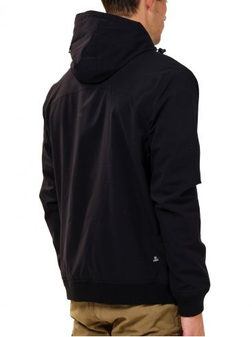 BASEHIT Ανδρικό μαύρο μπουφάν 202.BM10.37 Black