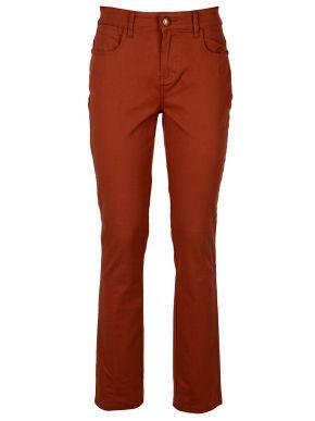 SARAH LAWRENCE Γυναικείο κάμελ ψηλόμεσο skinny ελαστικό παντελόνι καπαρντίνας