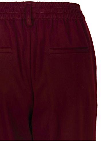 ale γυναικεία μπορντό ελαστικό τσίνος παντελόνι ρεβέρ στο τελείωμα 9910559C