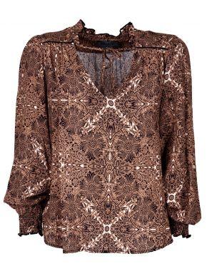 ATTRATTIVO Γυναικείο έθνικ βισκόζη πουκάμισο V 92326274