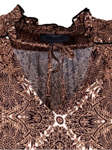 ATTRATTIVO Γυναικείο κρουαζέ πολύχρωμο πουκάμισο 9911078