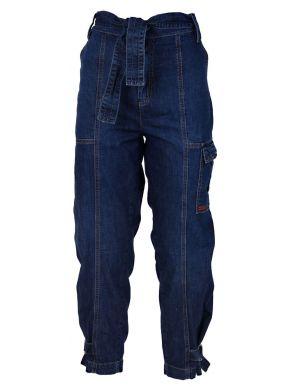 ATTRATTIVO Γυναικεία τζιν cargo παντελόνα, πλάγιες τσέπες