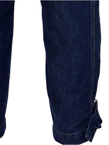 ATTRATTIVO Μαύρη ψηλόμεση παντελόνα, φαρδύ λάστιχο μπάσχα