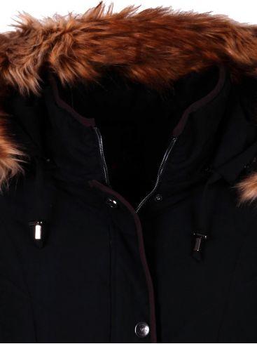 veto γυναικείο μαύρο καπιτονέ ζεστό μπουφάν αλκαντάρα