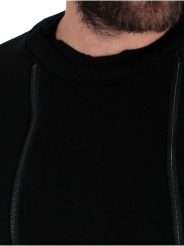 STEFAN Ανδρικό ασπρόμαυρο μακρυμάνικο φούτερ